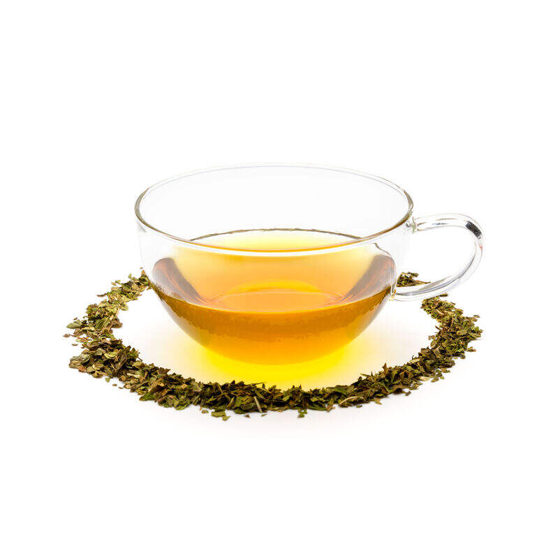 Organic Peppermint in Teacup