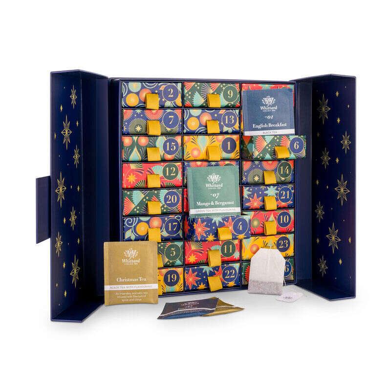The Tea Advent Calendar with doors open