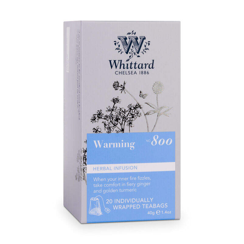 Warming Infusion Teabags box