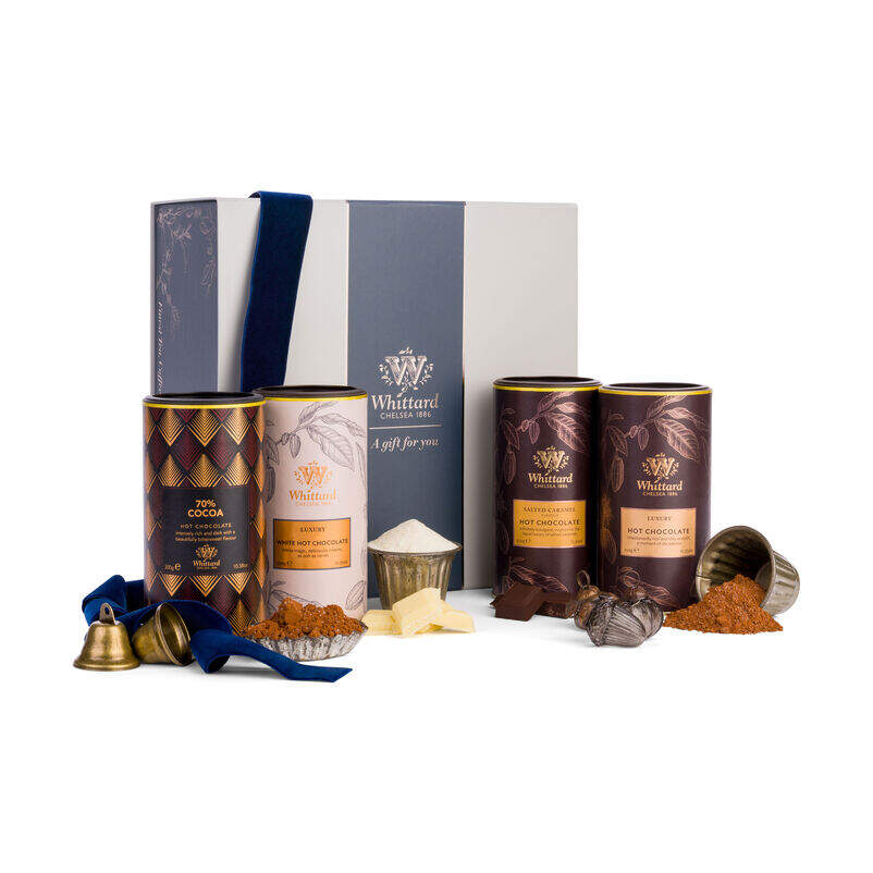 The Hot Chocolate Favourites Gift Box in Christmas styling