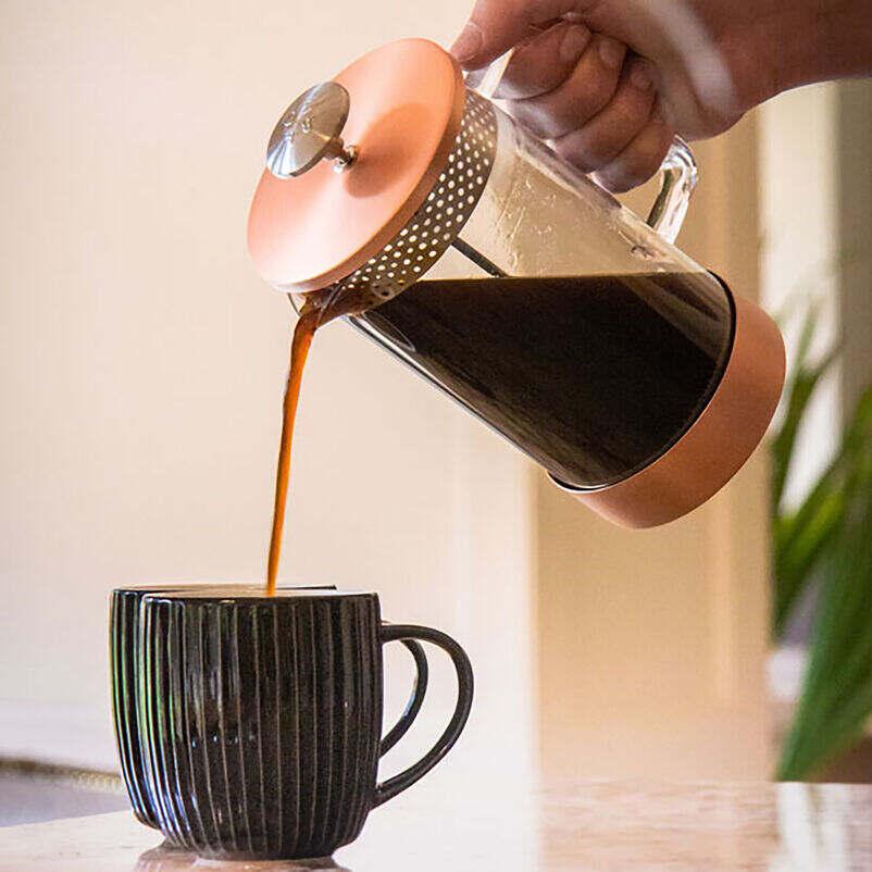 Barista & Co Core Coffee Pres 8-Cup - Copper pouring coffee