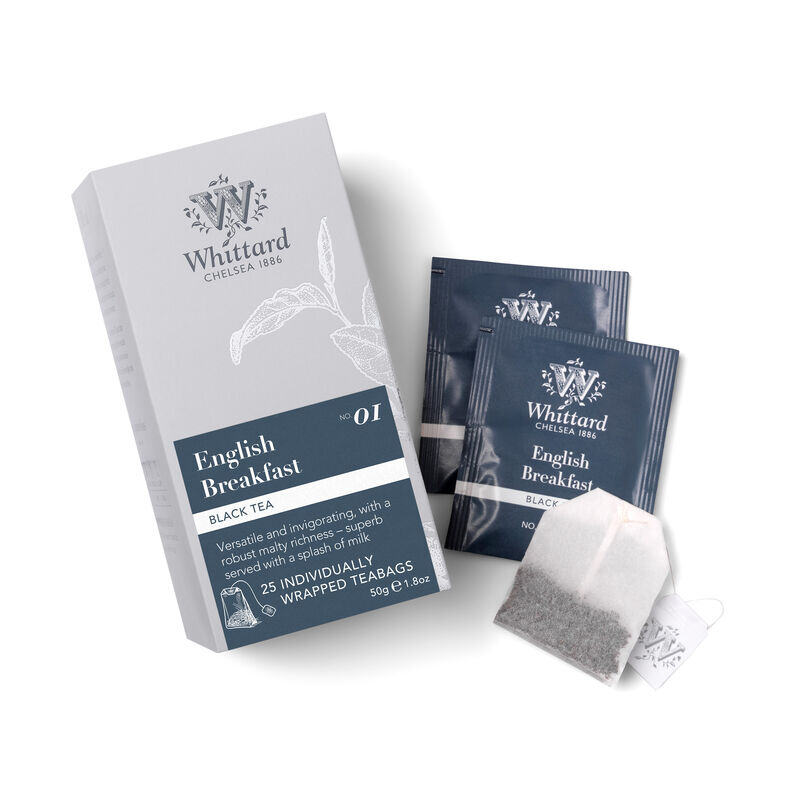 English Breakfast 25 Individually Wrapped Teabags