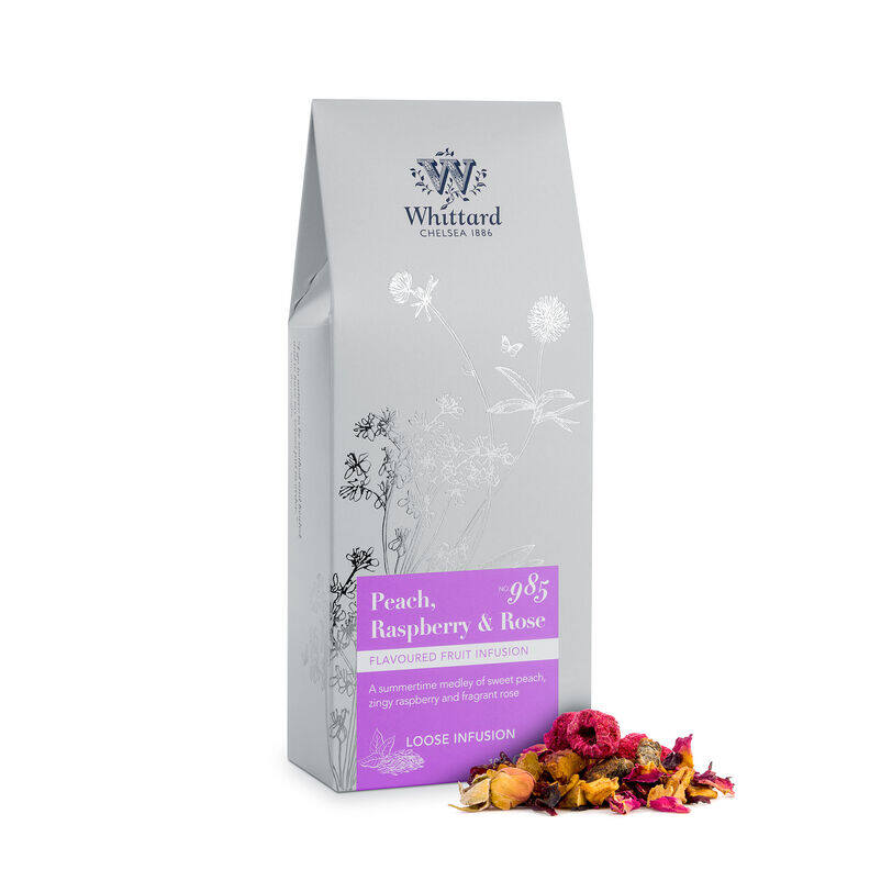 Peach, Raspberry & Rose Loose Infusion Pouch