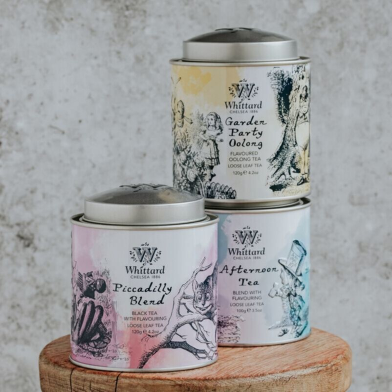 Collection of Alice Tea Caddies