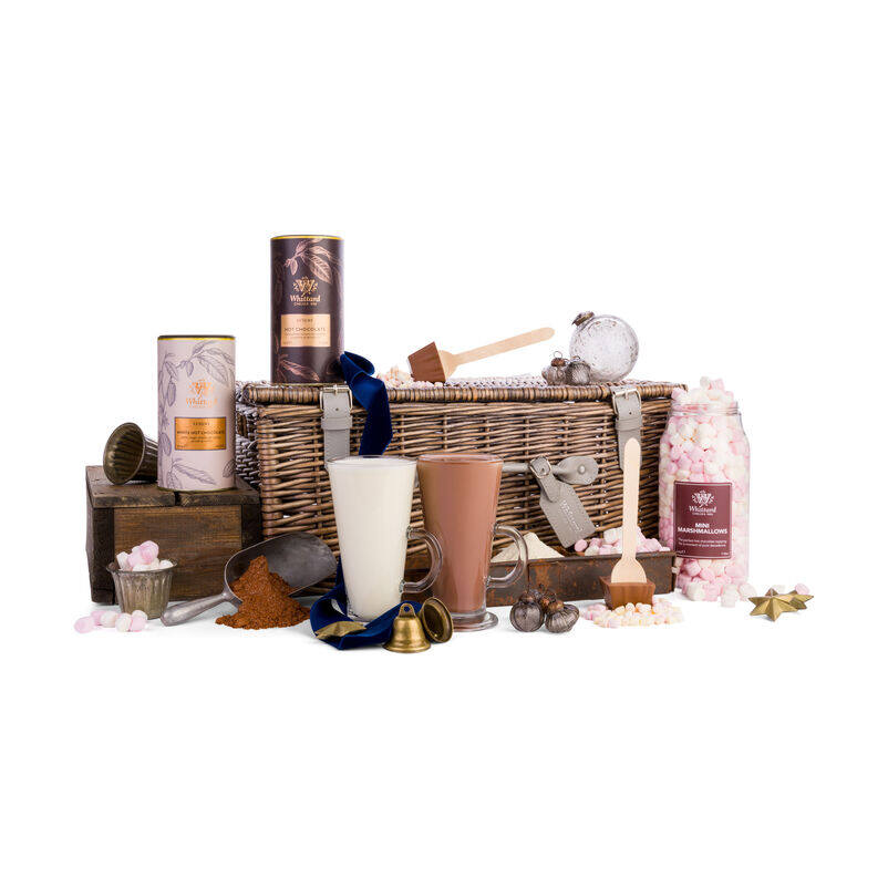 The Signature Hot Chocolate Hamper with ribbon