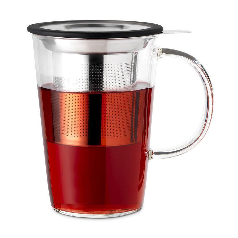 Glass Pao Infuser Mug with tea