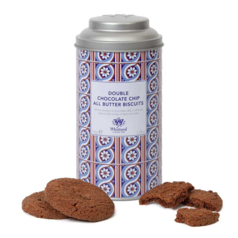 Double Chocolate Chip Biscuits and Tin