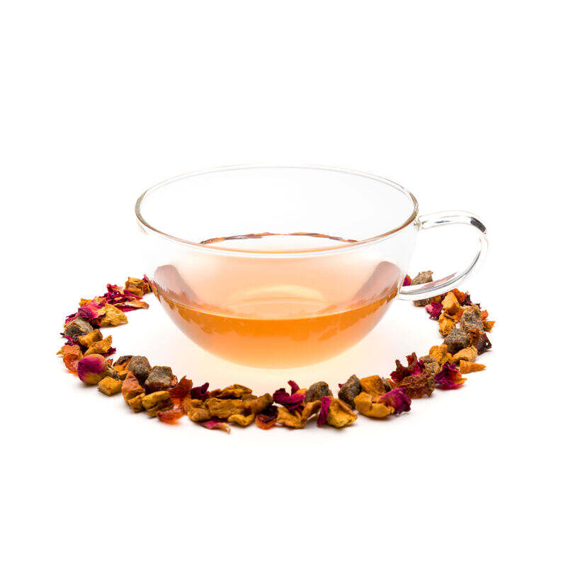 Peach, Raspberry & Rose Loose Infusion in Teacup