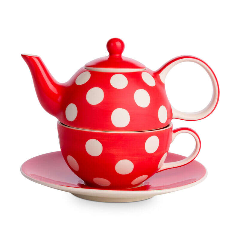 Florence Pillar Box Red Tea-For-One