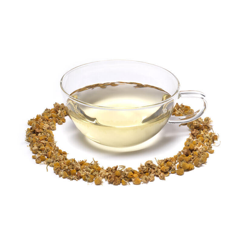 Organic Camomile Infusion in Teacup