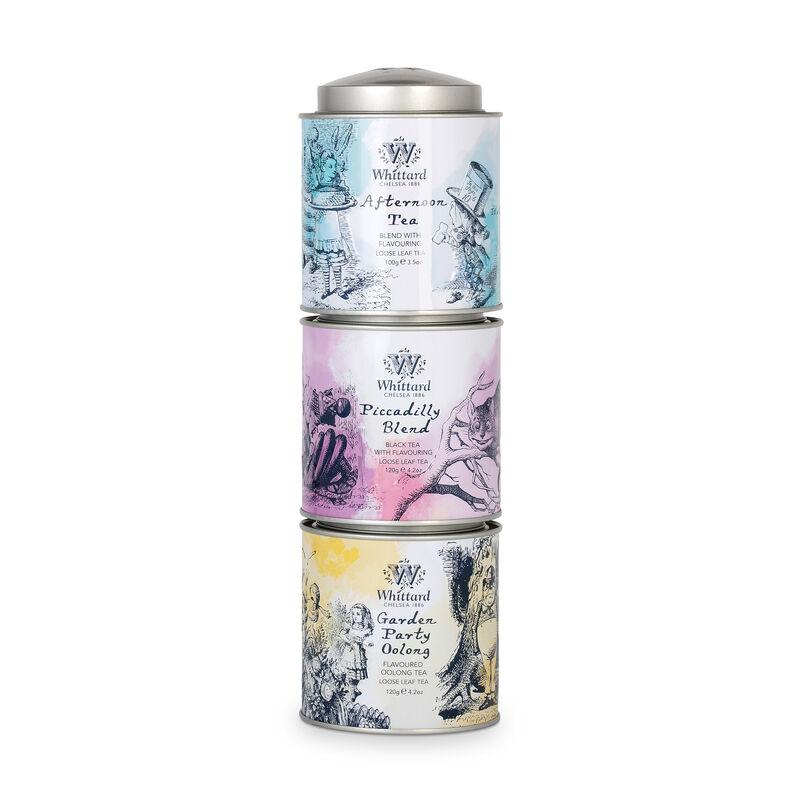 Alice in Wonderland stacking tea caddies