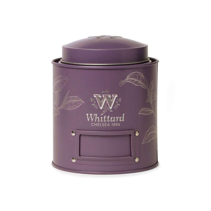 Standard sized purple Whittard Tea Caddy