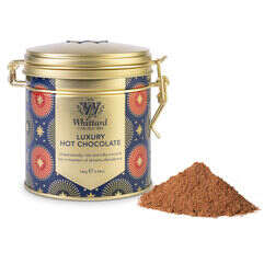 Luxury Hot Chocolate Clip Top Tin with hot chocolate powder outside tin