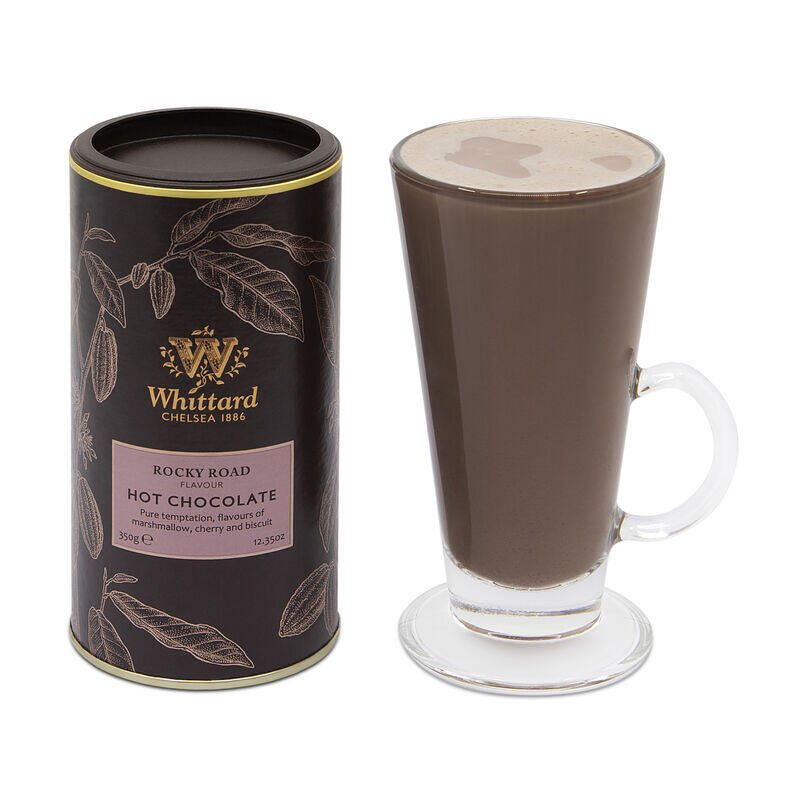 Rocky Road Flavour Hot Chocolate in SoHo glass