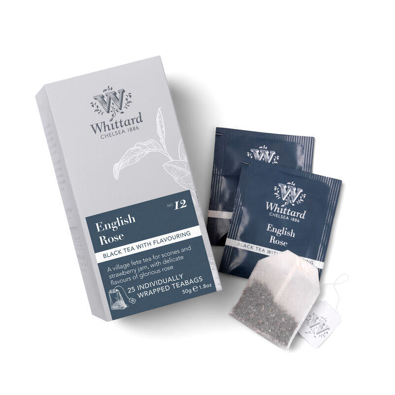 English Rose 25 Individually Wrapped Teabags