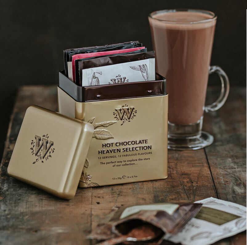 Hot Chocolate Heaven Selection Tin and made up hot chocolate