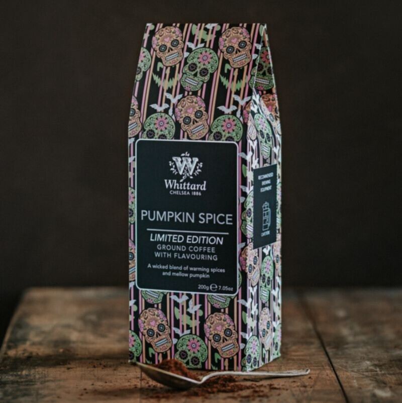 Limited Edition Pumpkin Spiced Coffee on table