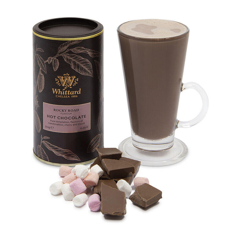 Rocky Road Flavour Hot Chocolate with chocolate chunks and marshmallows