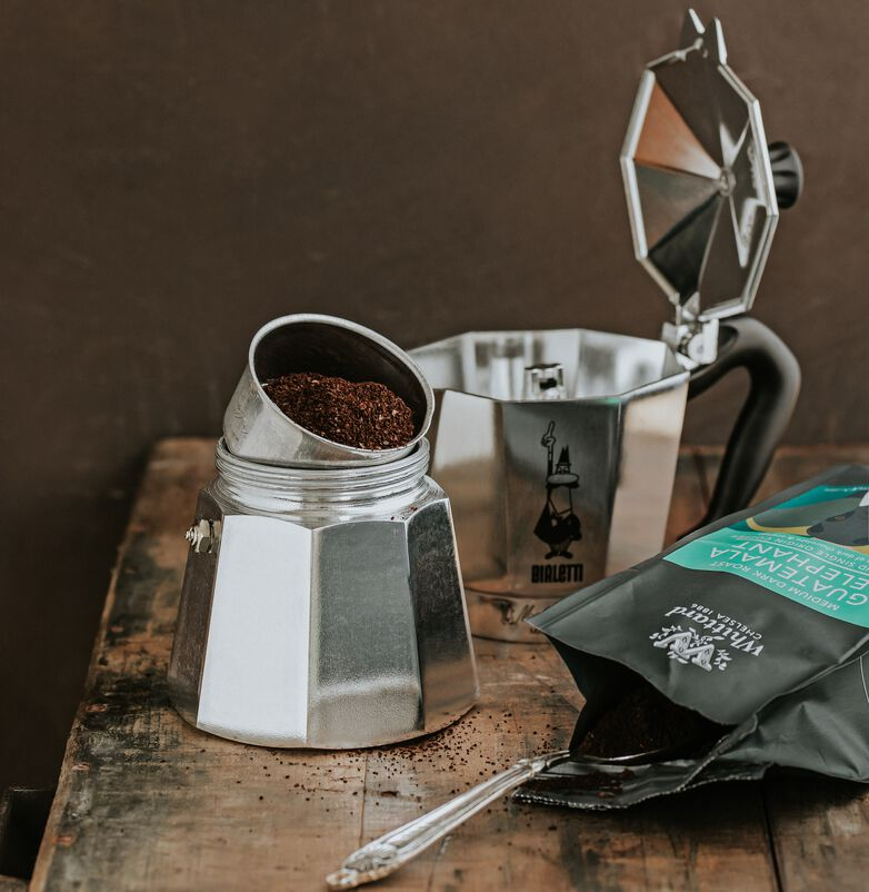 Guatemala Elephant Coffee made in a Stovetop