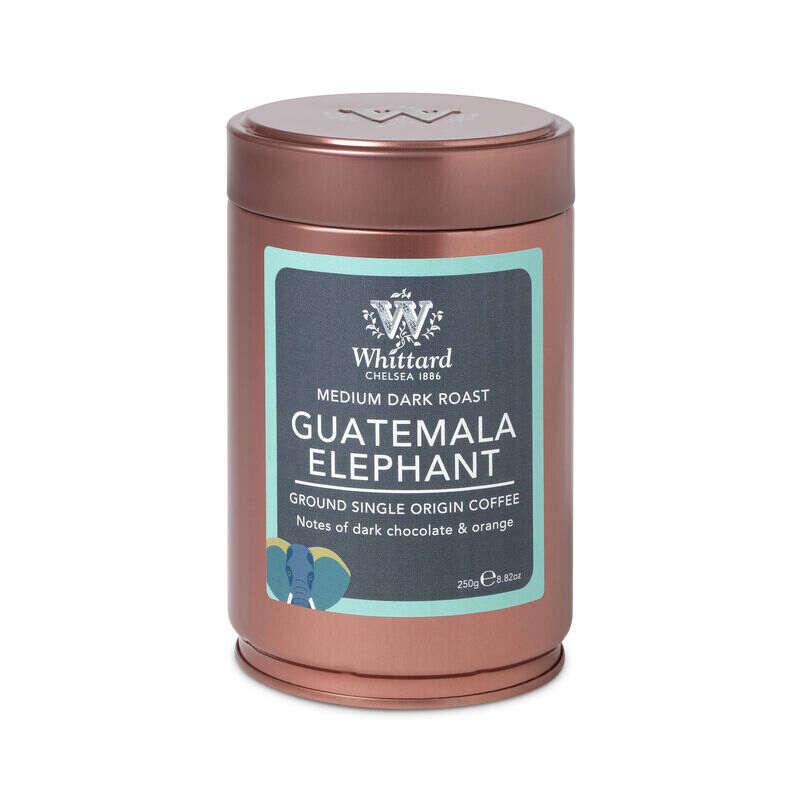 Guatemala Elephant Ground Coffee Tin, Whittard ground coffee