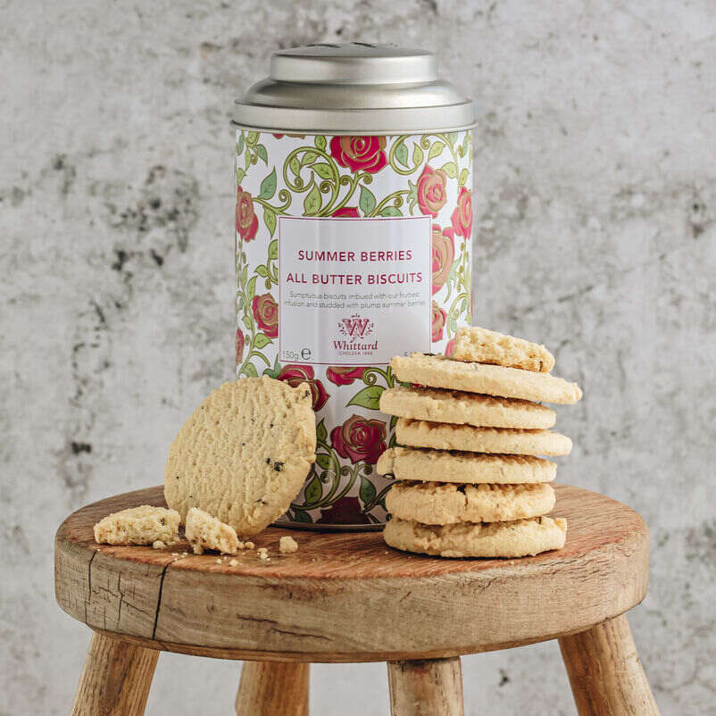 Lifestyle of Summer Berries Biscuits and Tin