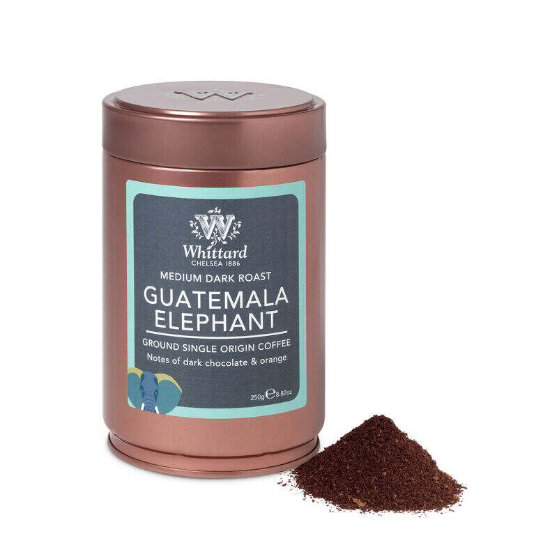 Guatemala Elephant Ground Coffee Copper Tin, Whittard ground coffee