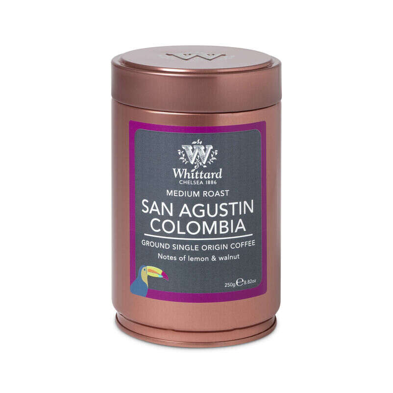 San Agustin Colombia Ground Coffee Caddy, ground coffee, coffee, espresso, coffee flavours