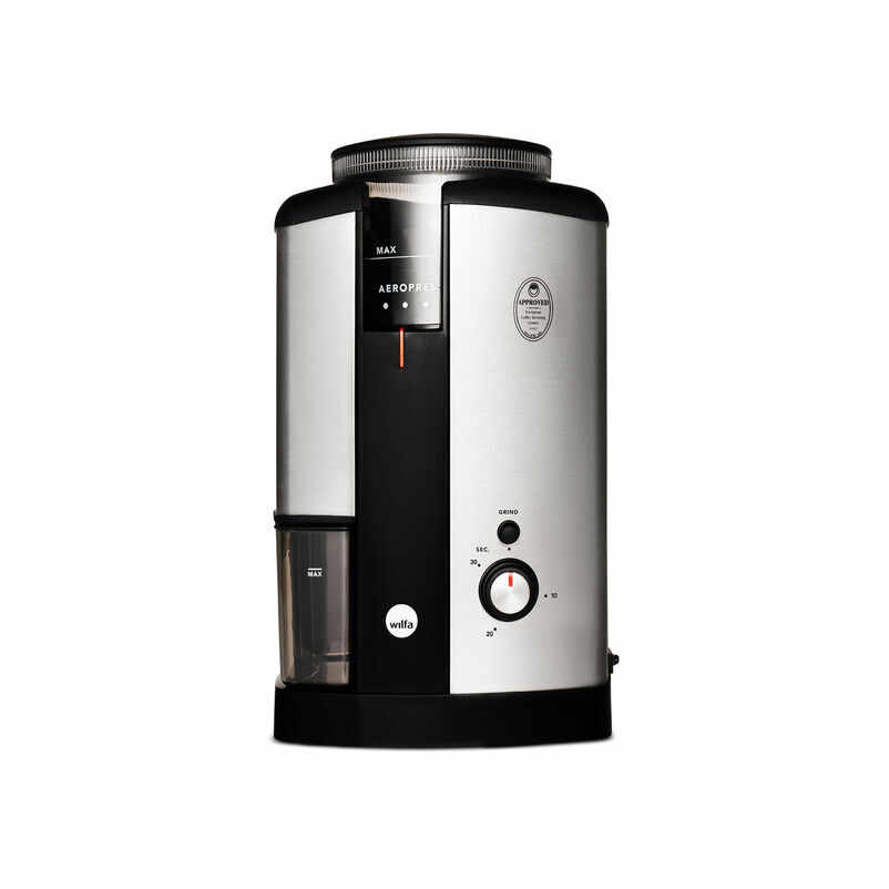 Silver Wilfa Coffee Bean Grinder