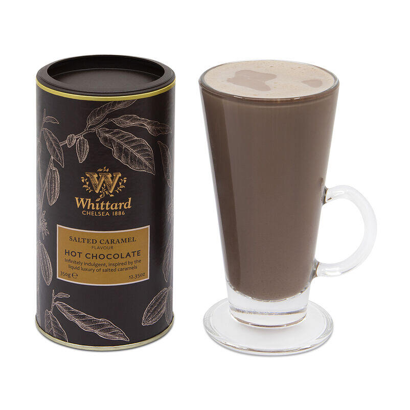 Salted Caramel Flavour Hot Chocolate in SoHo glass