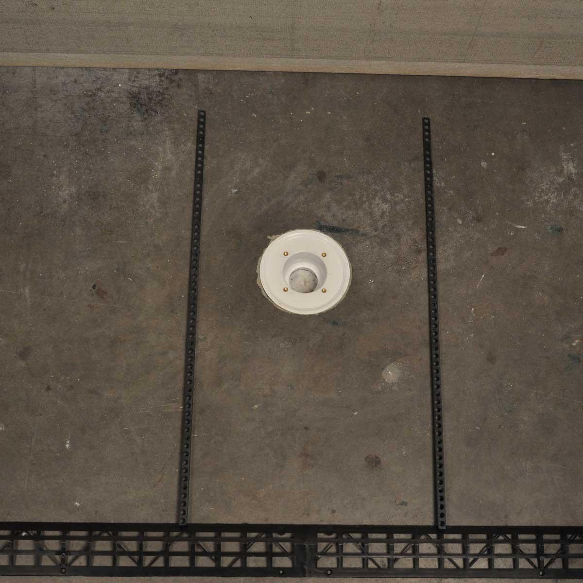 HK-283 Handi-Kirb center drain Wheelchair Accessible Shower