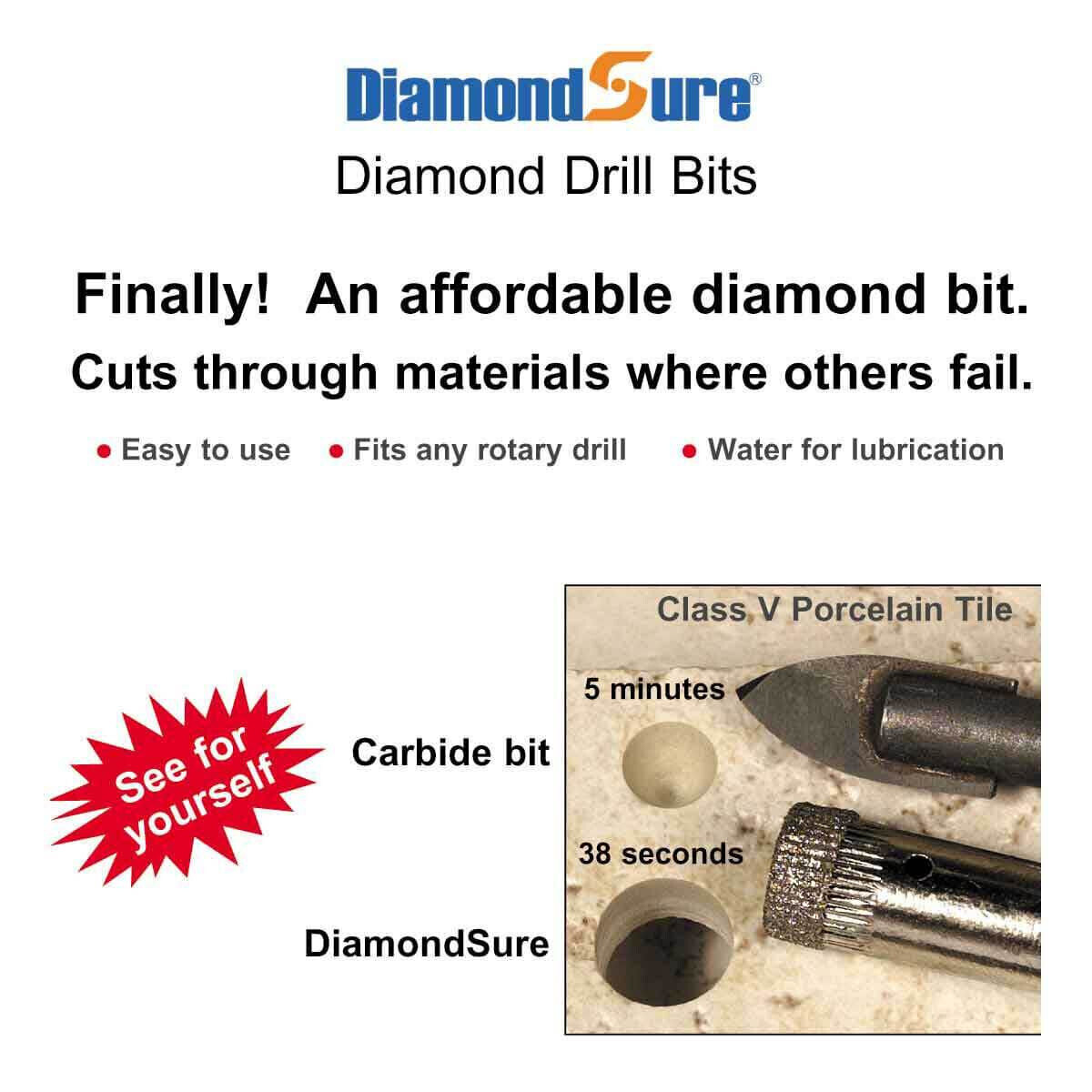 Diamond Sure Tile Drill Bit Demo