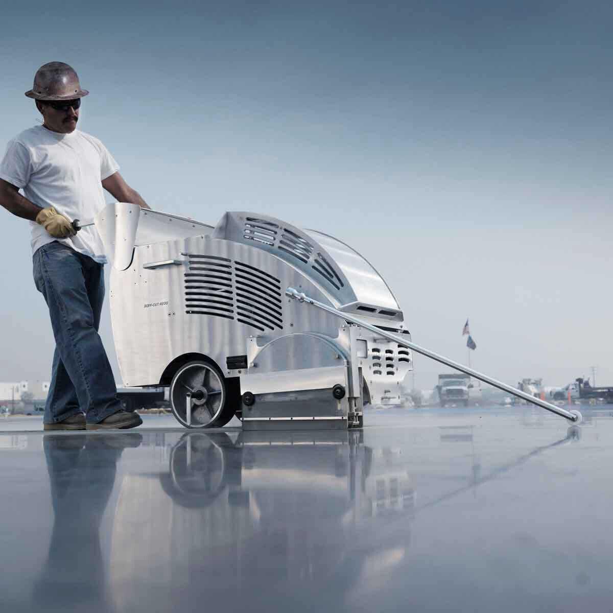 Husqvarna Soff-Cut 4200 Green Concrete Road Cutting Saw