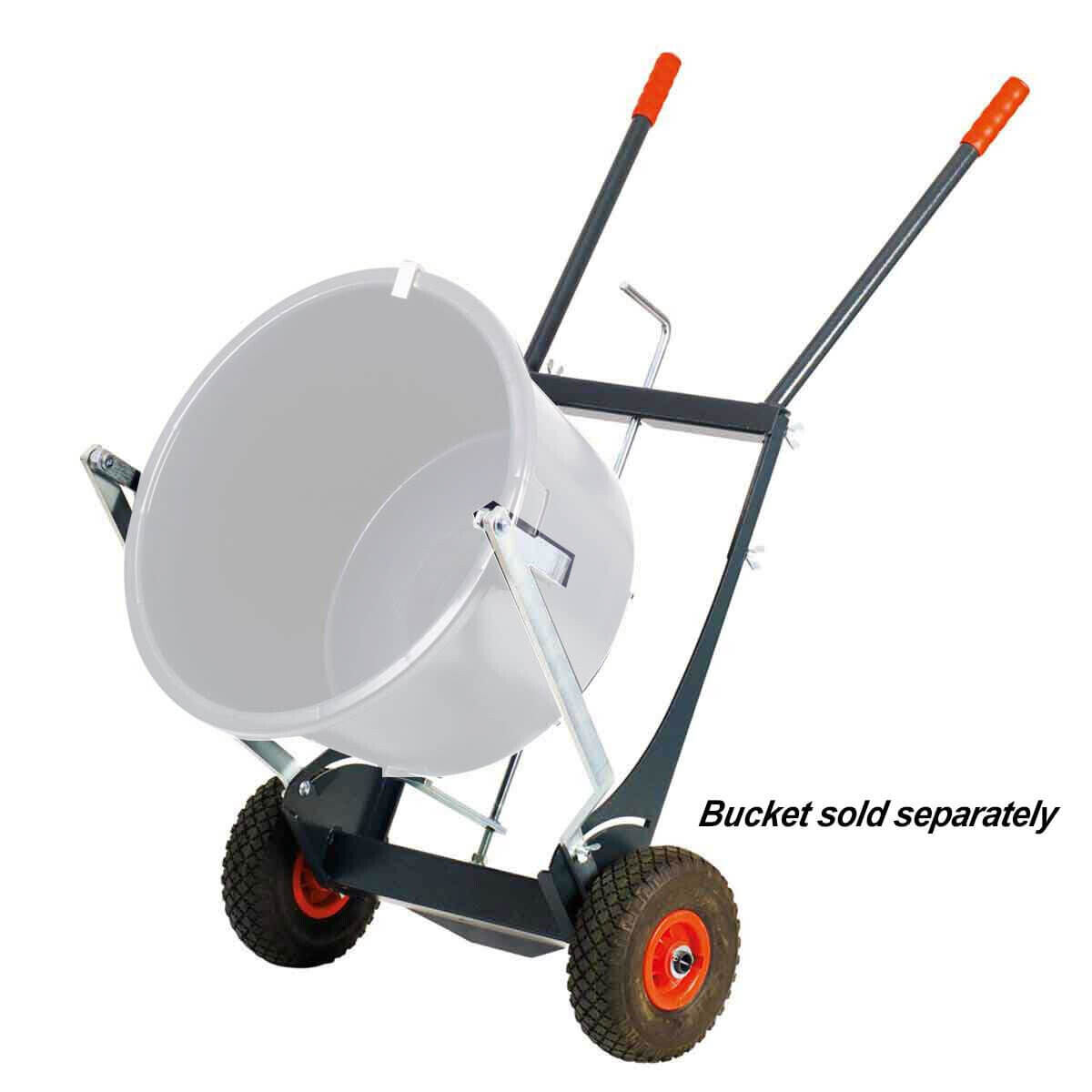 Collomix Bucket Cart, pneumatic tires and bucket tilting device