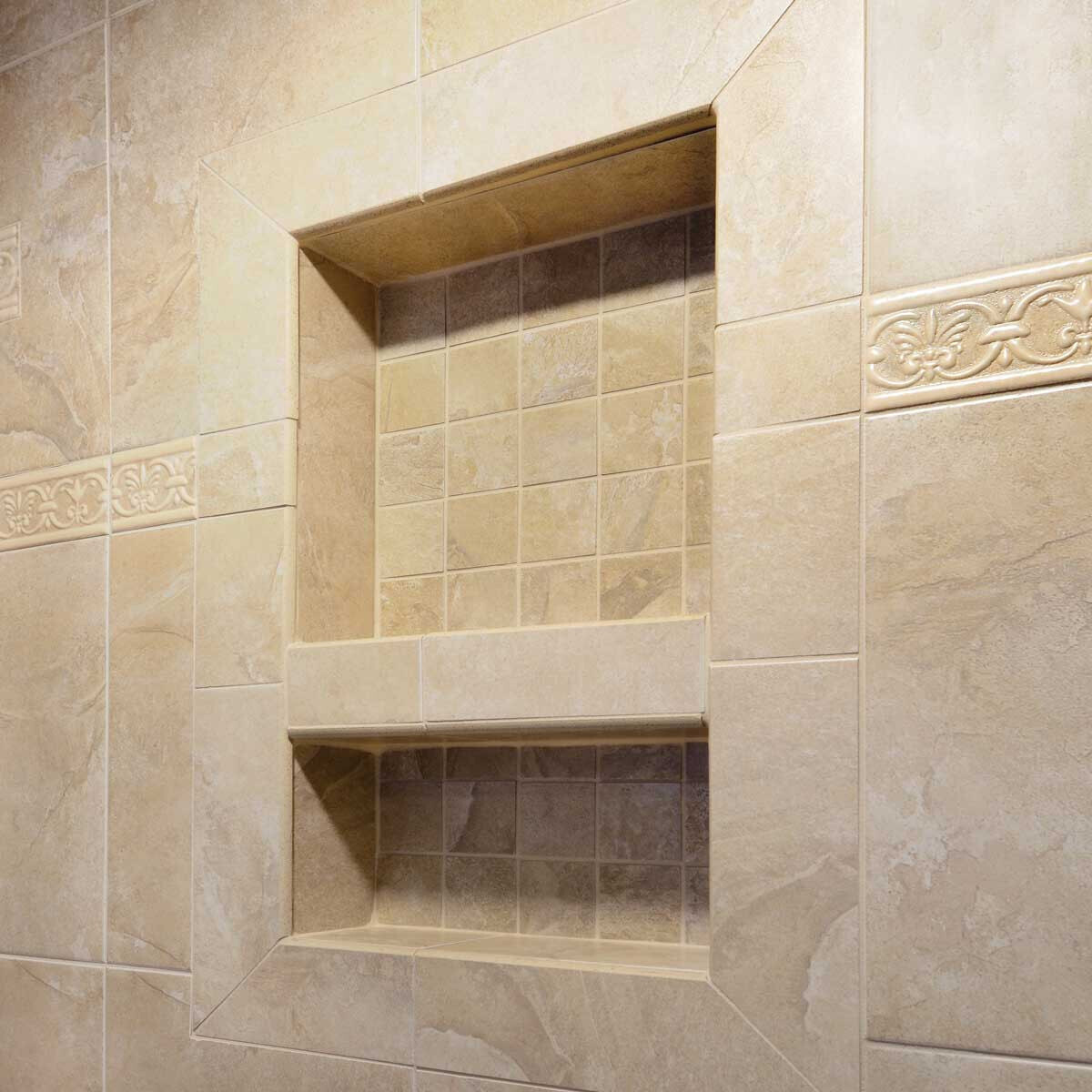 Laticrete Recessed Shower Niche