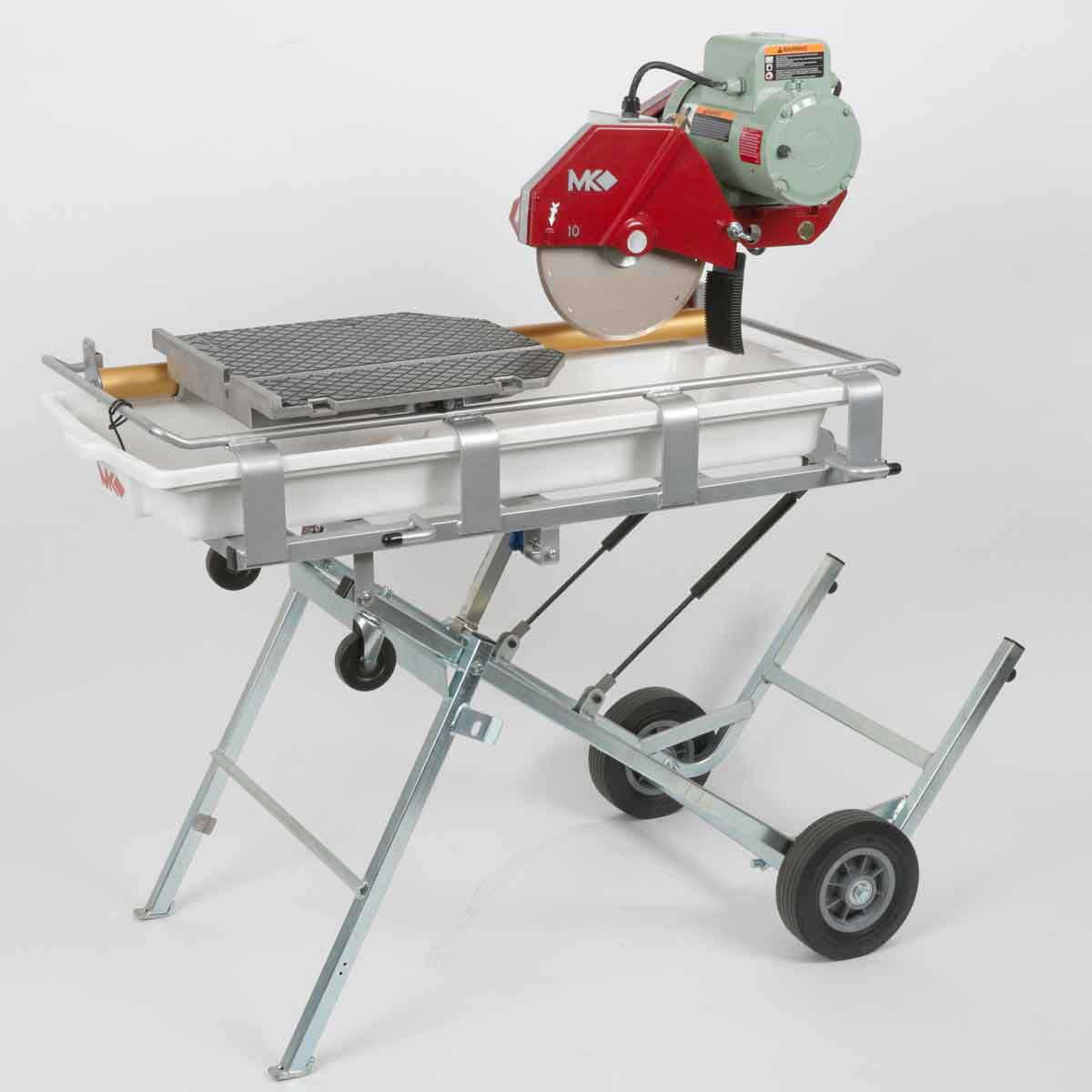 Mounted MK Tile Saw With Wheels