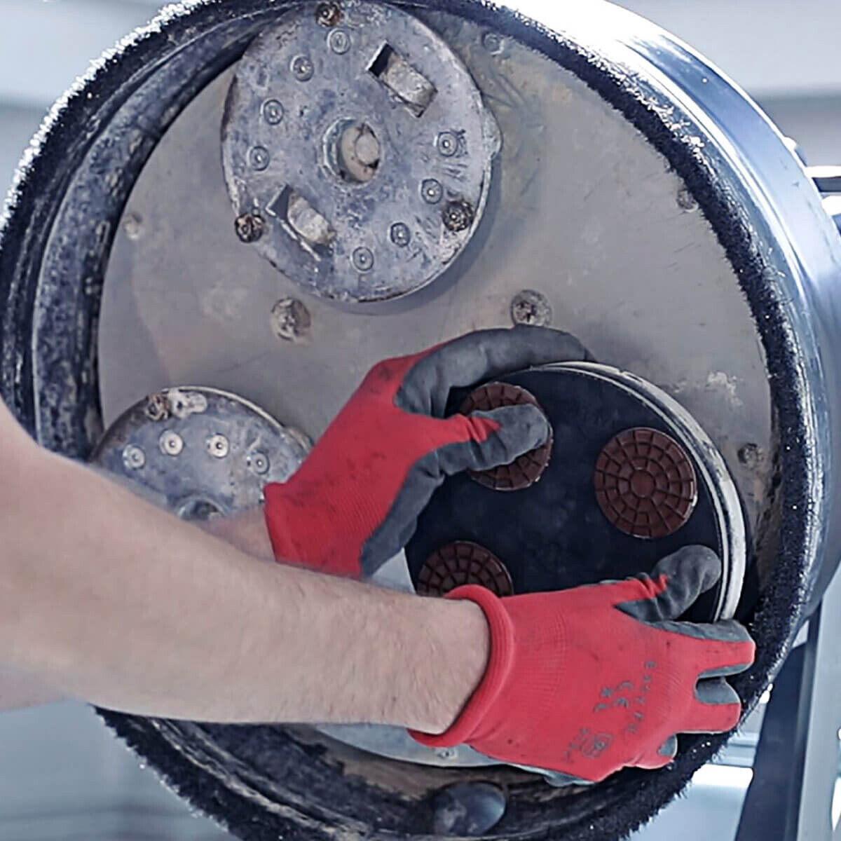 Husqvarna P600 Dry Resin Concrete Pads