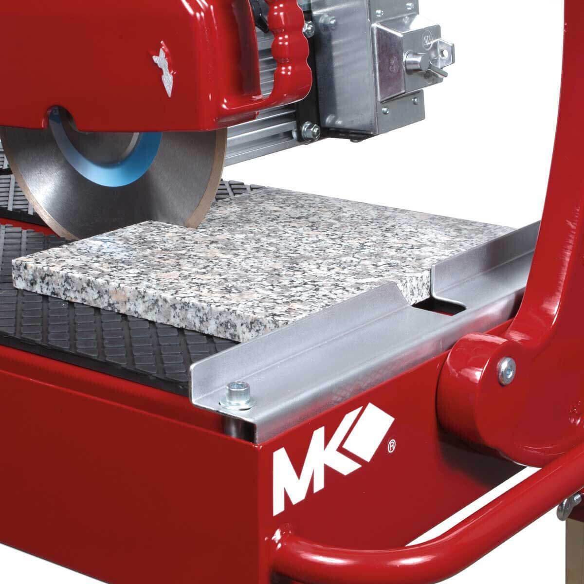 MK 212 Wet Stone Rail Saw Cuts Granite