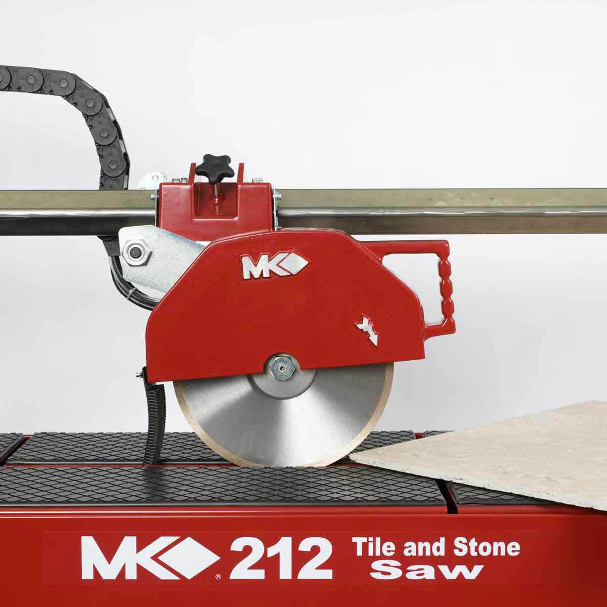 MK 212 Wet Stone Rail Saw Cuts Tile