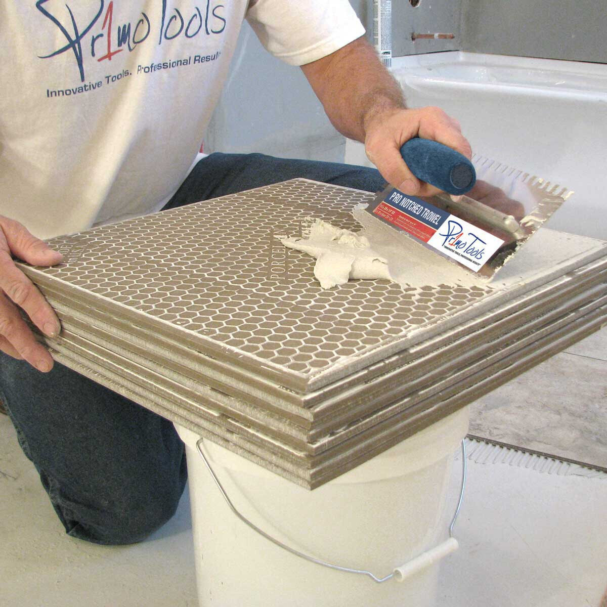 Back Butter Buddy for Tile Installation