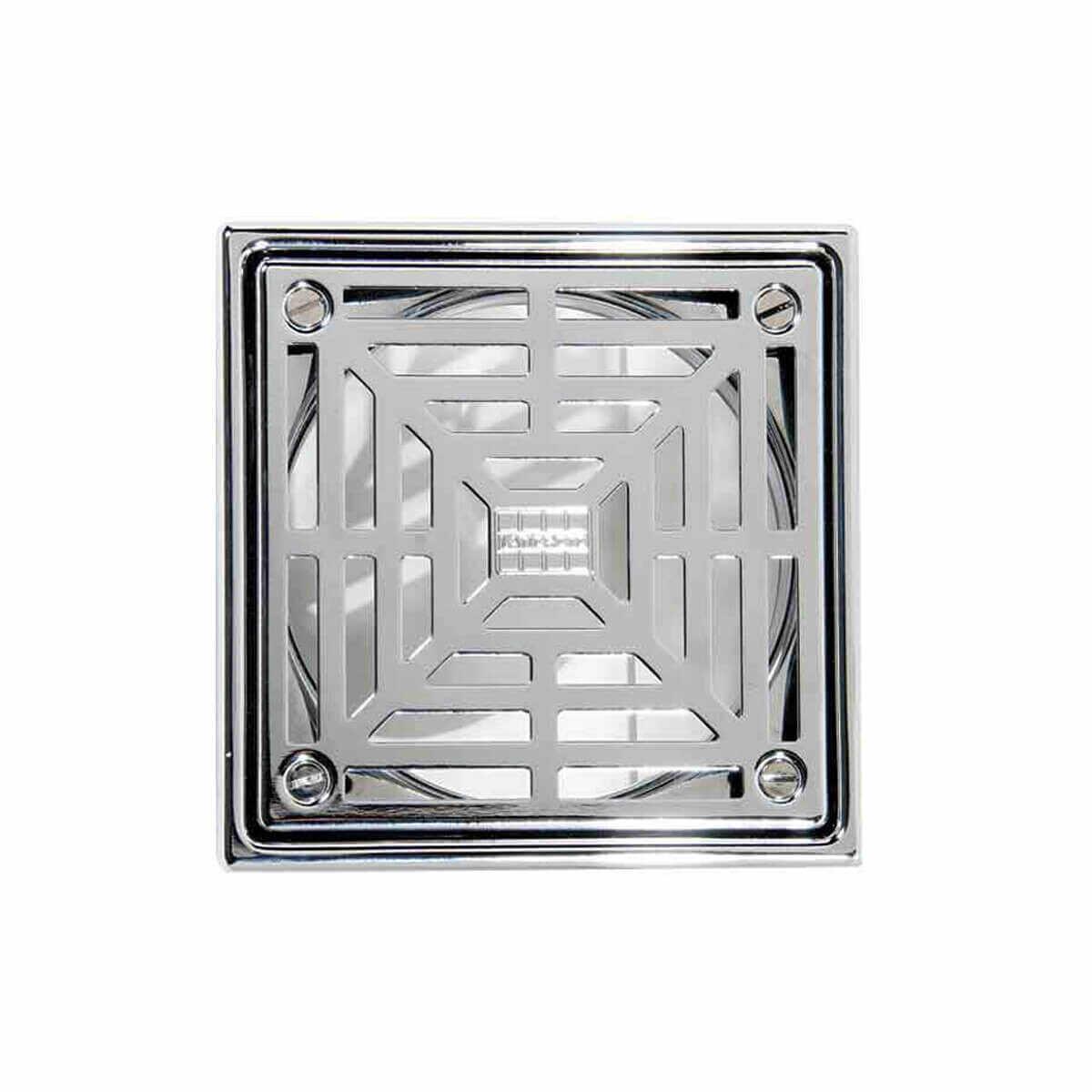Laticrete 5 inch Square Polished SS Shower Drain