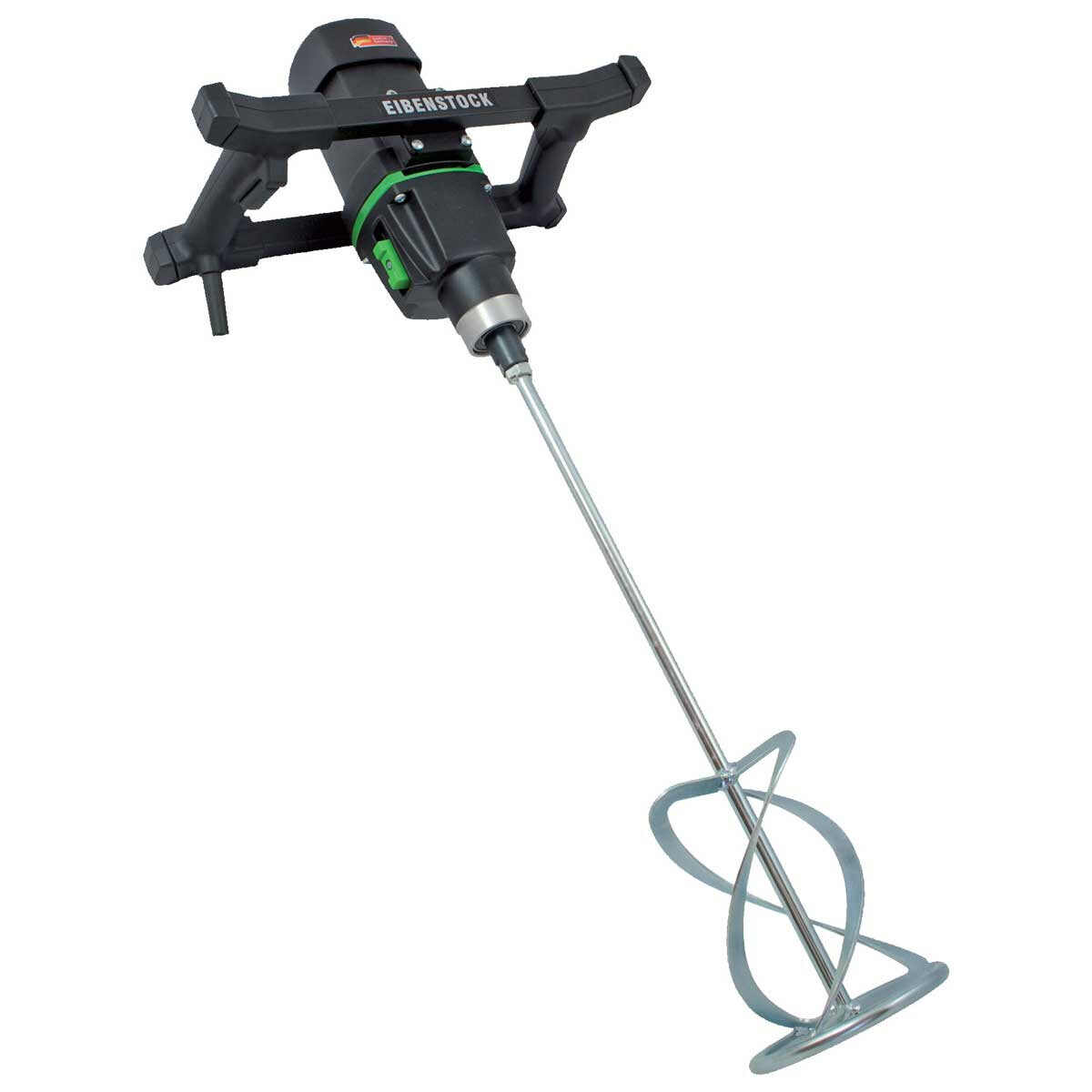 Eibenstock EHR 23/1.4 R is a powerful hand-held mixer designed to stir high viscosity materials such as tile cement, ready-mixed plaster and mortar, epoxy resins, leveling compounds, adhesive sealant