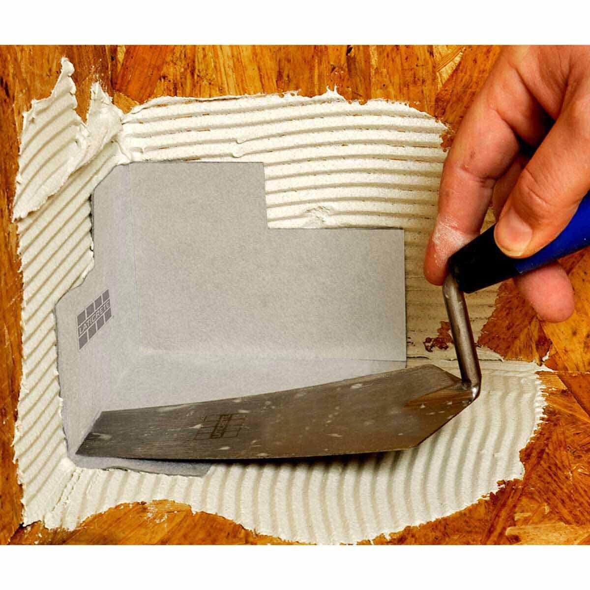 Laticrete HydroBan Waterproof Corner Install