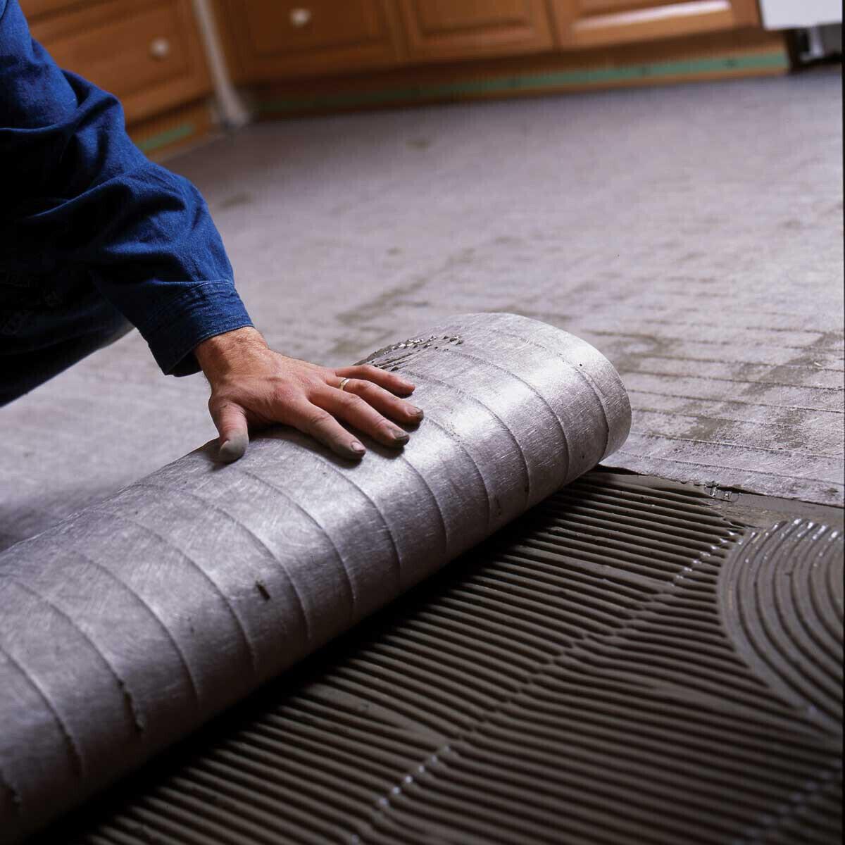 Radiant Tile Floor Heat Mat Installation