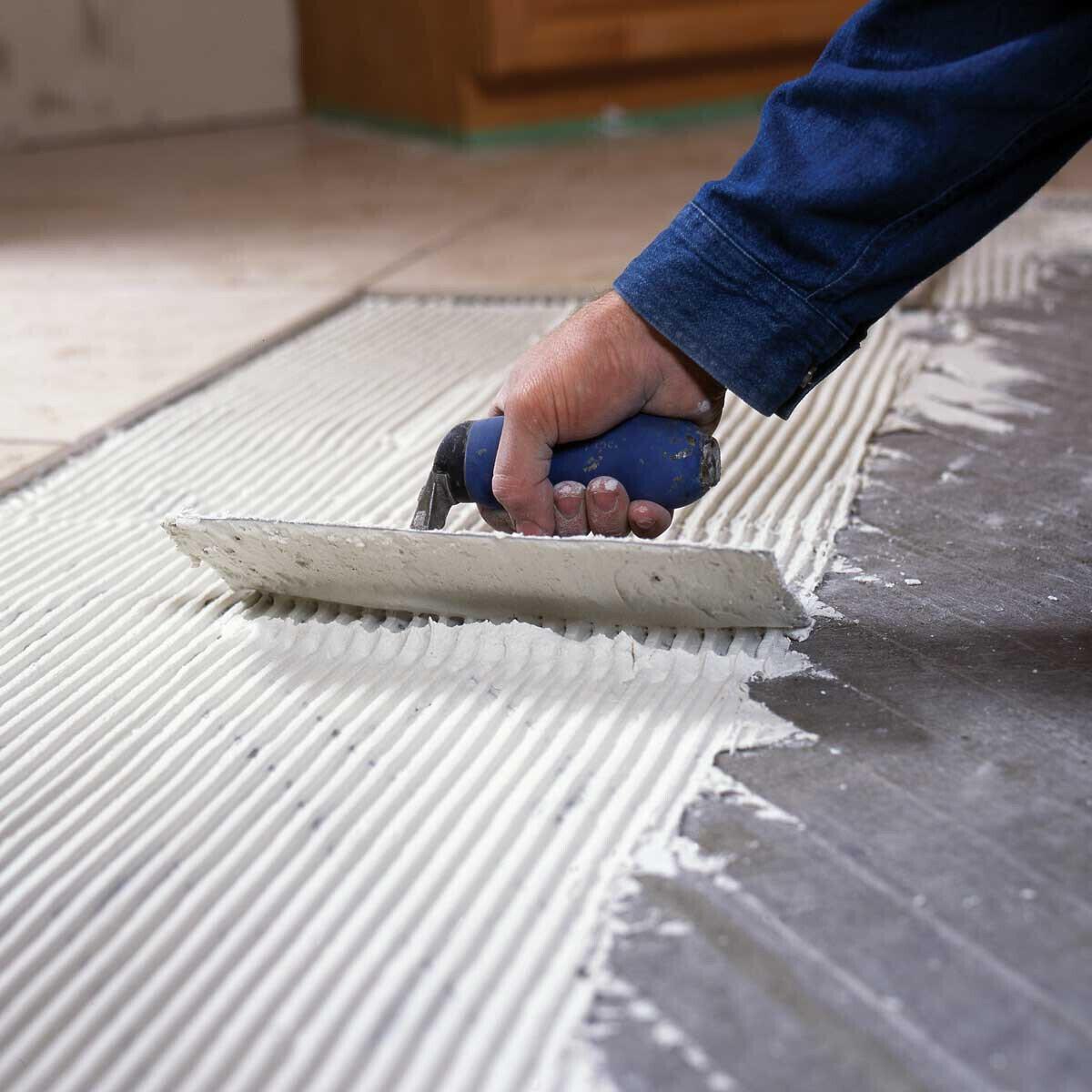 Radiant Floor Heating Mat Installation