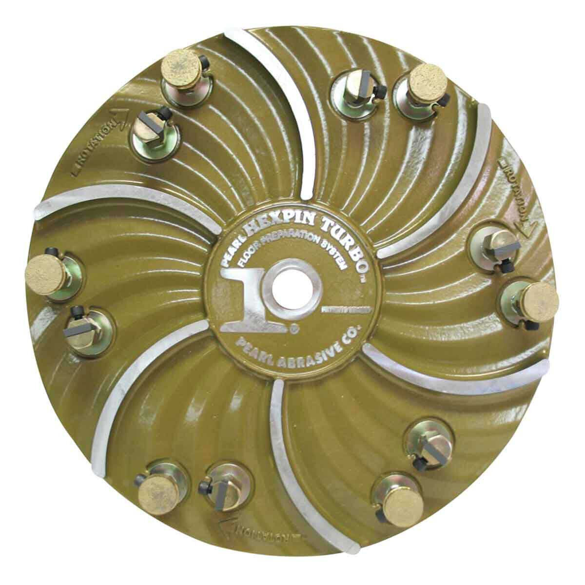 Pearl Abrasive Hexpin 15 inch Plate with EZ Pads