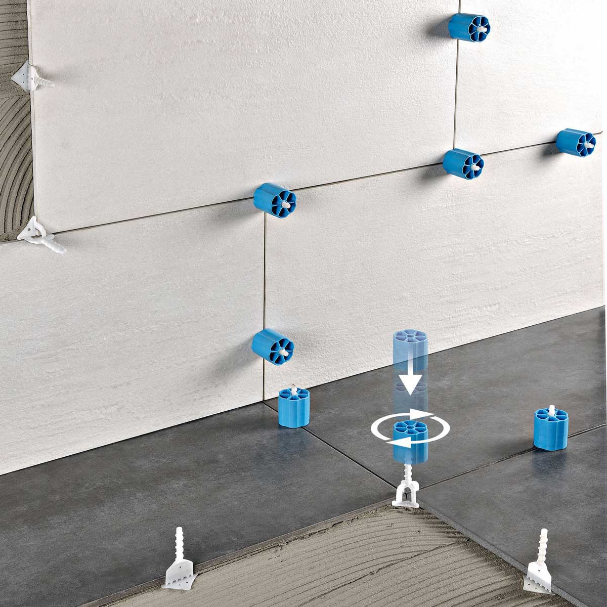 Prodeso Leveling caps screw in to clip to level tile