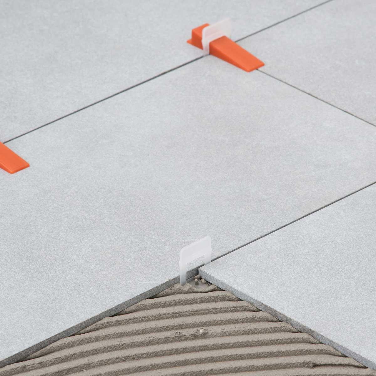 raimondi RLS clear clip floor tile mortar stone tile