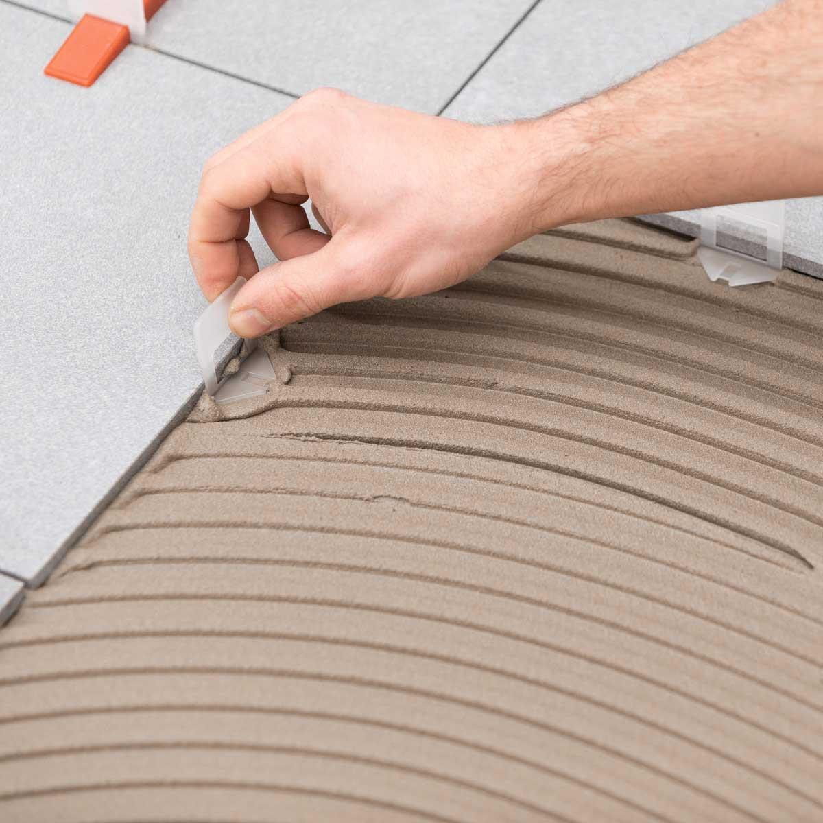 raimondi RLS clear clip tile leveling mortar setting