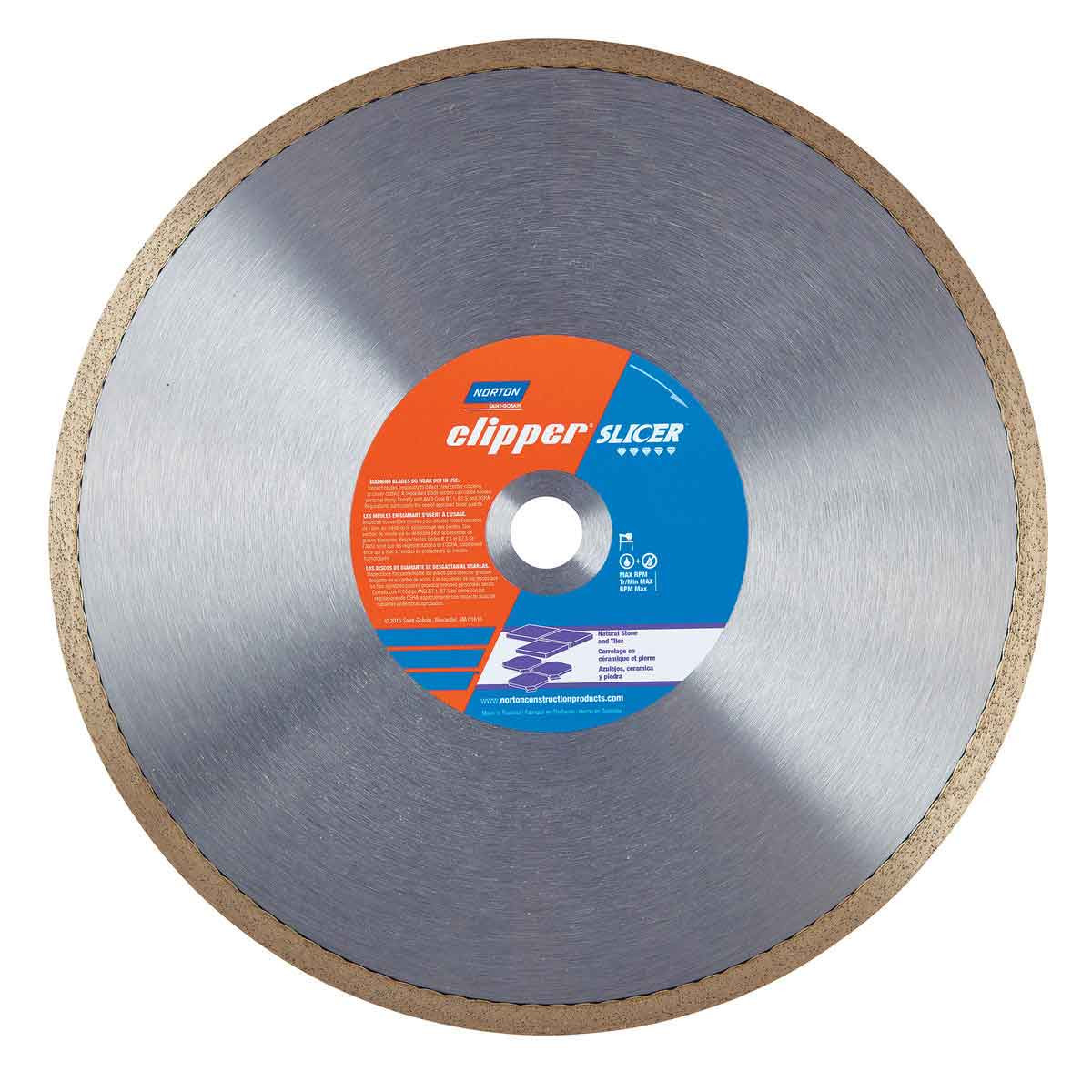 Norton Clipper Slicer wet tile saw Diamond Blade