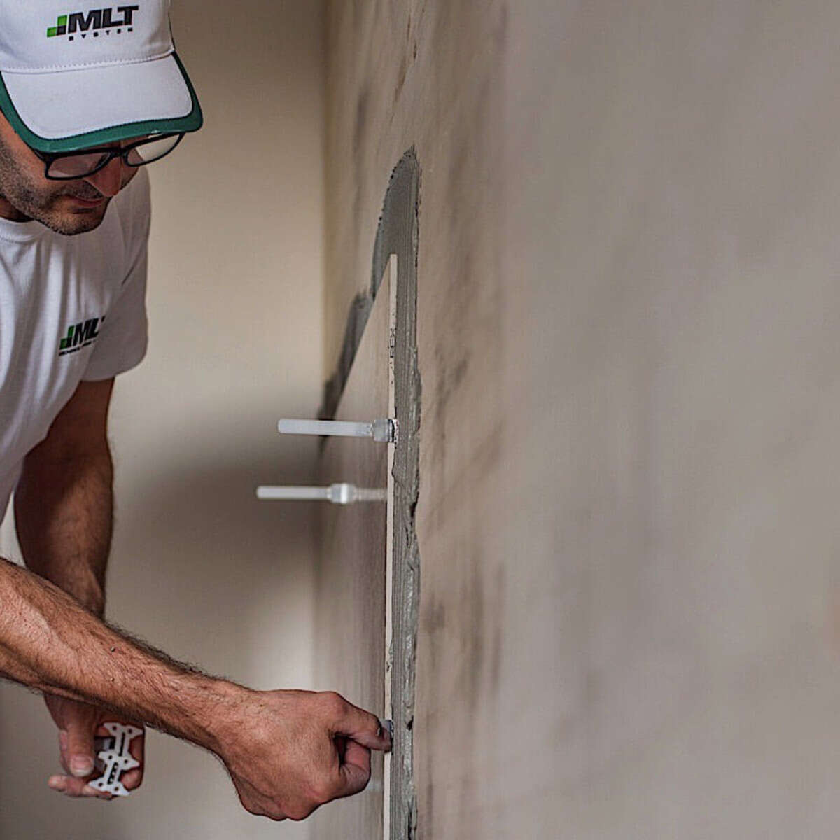 MLT Leveling Base Plates wall installation bathroom